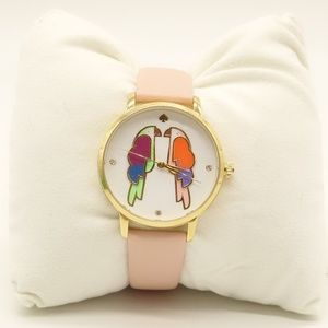 NWT KATE SPADE Parrot Metro Watch Leather Band